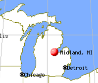 Midland Michigan map